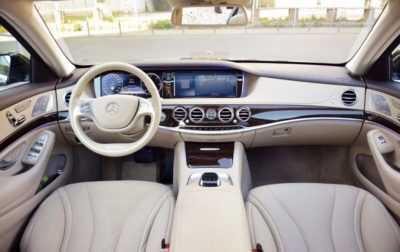 Inchiriere masina cu sofer - Interior Mercedes S Class